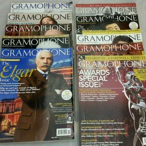 Lot of 2007 Gramophone Magazines - Includes 2007 A